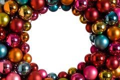 圣诞节装饰品花圈 免版税库存图片