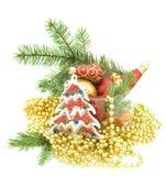 圣诞节装饰品设置了 图库摄影