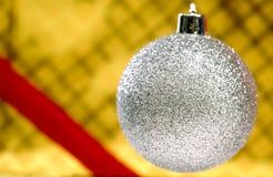 圣诞节装饰品银 免版税库存照片
