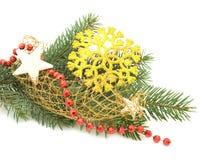 圣诞节装饰品雪花结构树 库存图片