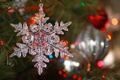 圣诞节装饰品雪花 免版税库存照片