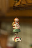 圣诞节装饰品-玩具女孩 图库摄影