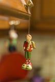 圣诞节装饰品-玩具男孩 免版税库存图片