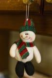 圣诞节装饰品-玩具雪人 库存照片