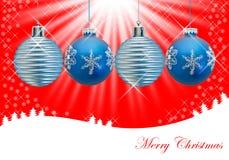 圣诞节装饰品 库存例证
