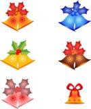 圣诞节装饰响铃和槲寄生例证 库存照片