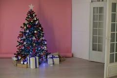 圣诞节装饰圣诞树礼物圣诞节 免版税库存图片