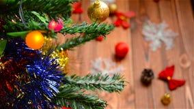 圣诞节装饰圣诞老人结构树的克劳斯 股票视频