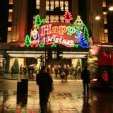 圣诞节装饰在伦敦 免版税库存图片