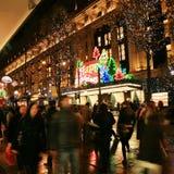 圣诞节装饰在伦敦 图库摄影