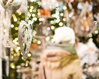 圣诞节装饰在市场上在萨尔茨堡 图库摄影