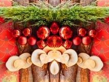 圣诞节装饰在牟罗兹,阿尔萨斯 免版税库存图片