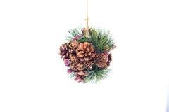圣诞节装饰在白色的设计要素 库存照片