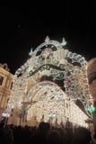 圣诞节装饰在莫斯科市 免版税库存照片