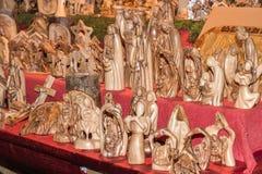 圣诞节装饰在街市上 免版税库存图片