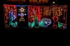 圣诞节装饰在麦德林,哥伦比亚 免版税库存图片