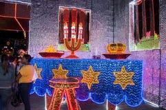 圣诞节装饰在麦德林 图库摄影