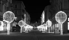 圣诞节装饰在贝林佐纳中心 图库摄影