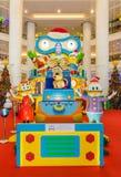圣诞节装饰在Berjaya时代广场 人们在它附近能看的探索和购物 库存照片