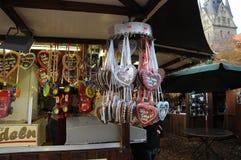 圣诞节装饰在Flensbirg 库存图片