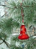 圣诞节装饰多雪的结构树 库存照片