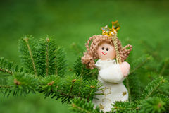 圣诞节装饰天使 免版税图库摄影