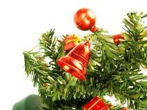 圣诞节装饰好的结构树 免版税图库摄影