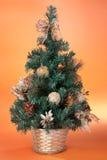 圣诞节装饰小的结构树 库存图片