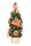 圣诞节装饰小的结构树 库存照片