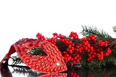 圣诞节装饰屏蔽 免版税库存照片