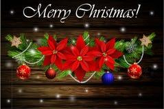 圣诞节装饰常青树树 皇族释放例证