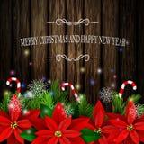 圣诞节装饰常青树树 图库摄影