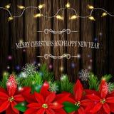 圣诞节装饰常青树树 免版税库存图片