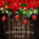 圣诞节装饰常青树树 免版税库存照片