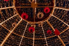 圣诞节装饰建筑 图库摄影