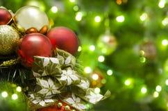 圣诞节装饰摘要 免版税库存照片