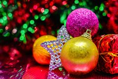 圣诞节装饰新年度 库存照片