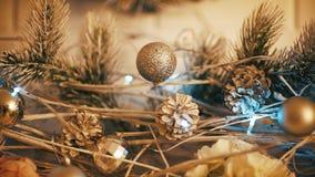 圣诞节装饰新年 股票视频