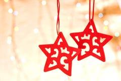 圣诞节装饰星形 免版税库存照片