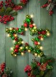 圣诞节装饰星形 图库摄影