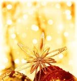 圣诞节装饰星形 免版税库存图片