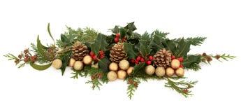 圣诞节装饰显示 免版税图库摄影