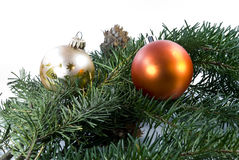 圣诞节装饰杉树 免版税库存图片