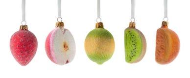 圣诞节装饰果子 免版税库存照片