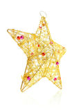 圣诞节装饰查出的星形白色 免版税库存图片