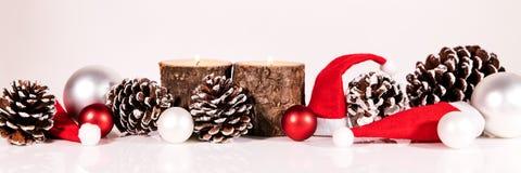 圣诞节装饰查出的白色 库存照片