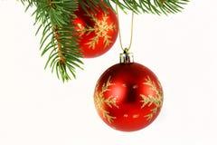 圣诞节装饰查出的白色 免版税库存照片