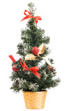 圣诞节装饰查出的结构树 库存照片