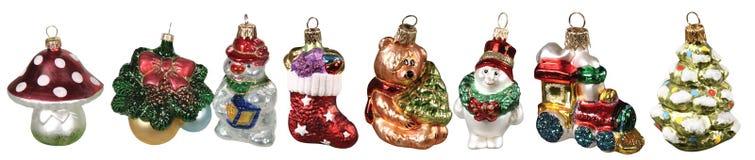 圣诞节装饰查出的集 免版税库存照片