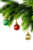 圣诞节装饰查出 免版税图库摄影